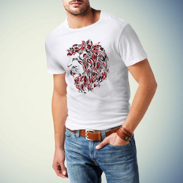 Moška majica lev