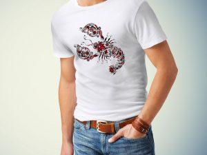 Moška majica rak