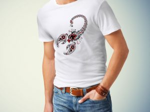Moška majica škorpijon
