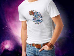 Moška majica ribi