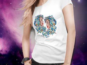 Ženska majica dvojčka