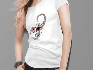 Ženska majica škorpijon