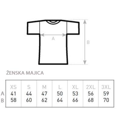 Ženska majica vzorec