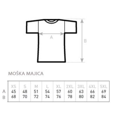 Moška majica vzorec